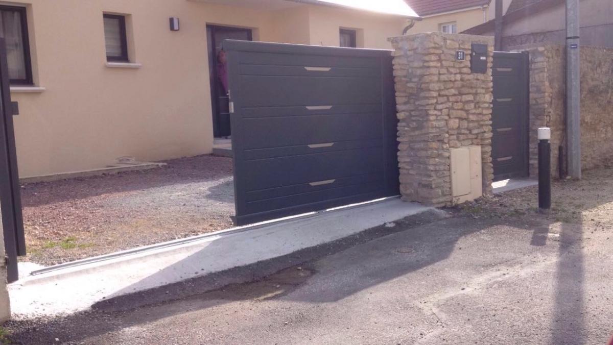 portail et portillon en aluminium afc automatisations fermetures concept caen portes. Black Bedroom Furniture Sets. Home Design Ideas